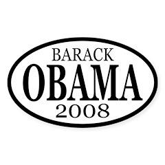 Barack Obama 2008 (oval car sticker)