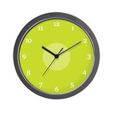 Chartreuse Wall Clocks