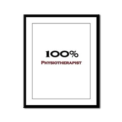 100 Percent Physiotherapist Framed Panel Print