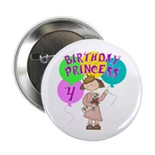 "4th Birthday Princess 2.25"" Button (10 pack)"