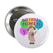 4th Birthday Princess Button