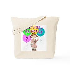 7th Birthday Princess Tote Bag