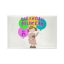 8th Birthday Princess Rectangle Magnet