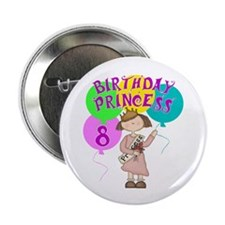 "8th Birthday Princess 2.25"" Button (10 pack)"