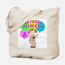 8th Birthday Princess Tote Bag