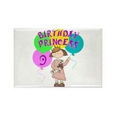 9th Birthday Princess Rectangle Magnet