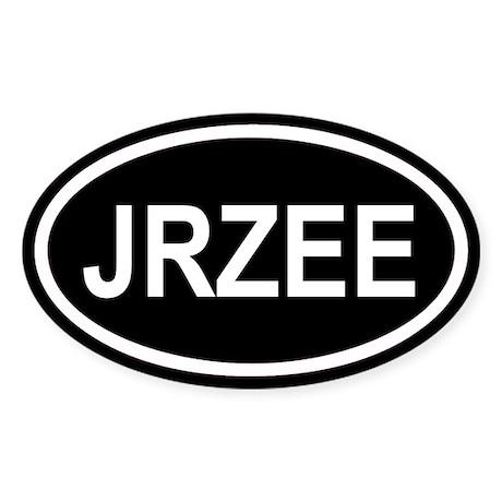 JRZEE New Jersey Black Euro Oval Sticker