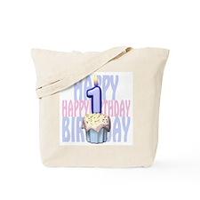 First Birthday Cupcake Tote Bag