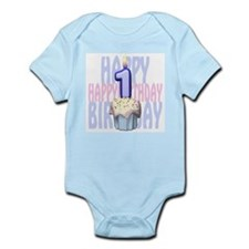 First Birthday Cupcake Infant Bodysuit
