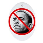 Anti Barack Obama Oval Ornament