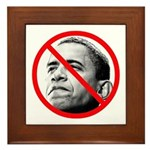 Anti Barack Obama Framed Tile