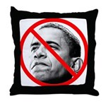 Anti Barack Obama Throw Pillow