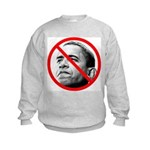 Anti Barack Obama (Front) Kids Sweatshirt