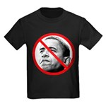 Anti Barack Obama (Front) Kids Dark T-Shirt