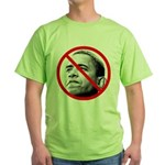 Anti Barack Obama (Front) Green T-Shirt