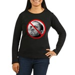 Anti Barack Obama (Front) Women's Long Sleeve Dark