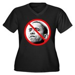Anti Barack Obama (Front) Women's Plus Size V-Neck