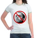 Anti Barack Obama (Front) Jr. Ringer T-Shirt