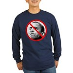 Anti Barack Obama (Front) Long Sleeve Dark T-Shirt