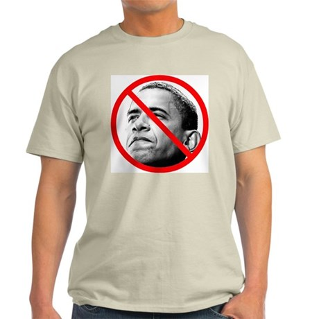 Anti Barack Obama (Front) Light T-Shirt