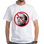 Anti Barack Obama (Front) White T-Shirt