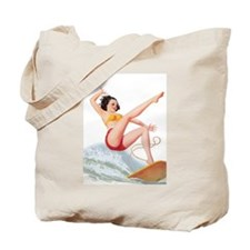 Water Sports Girl Tote Bag