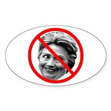 Anti Hillary Clinton Oval Decal