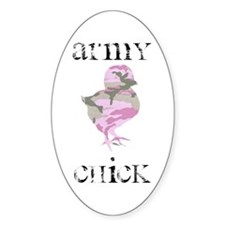 Army Chick Oval Decal