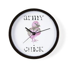 Army Chick Wall Clock