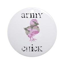Army Chick Ornament (Round)