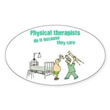 Physical Therapists Oval Decal