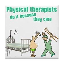 Physical Therapists Tile Coaster