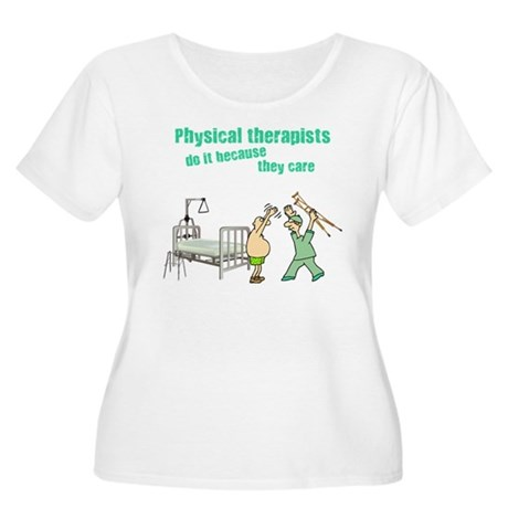 Physical Therapists Women's Plus Size Scoop Neck T
