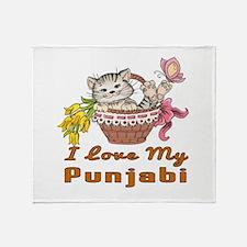 I Love My Punjabi Designs Throw Blanket