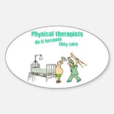 Female Physical Therapist Oval Decal