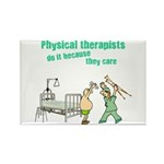 Female Physical Therapist Rectangle Magnet (100 pa