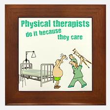 Female Physical Therapist Framed Tile