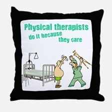 Female Physical Therapist Throw Pillow