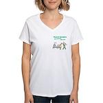 Female Physical Therapist Women's V-Neck T-Shirt