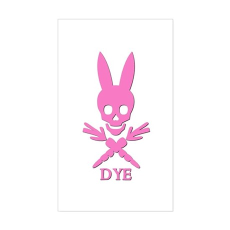 DYE (pink) Rectangle Sticker