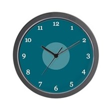 Teal Wall Clock (14W)