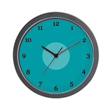 Teal Wall Clock (15B)