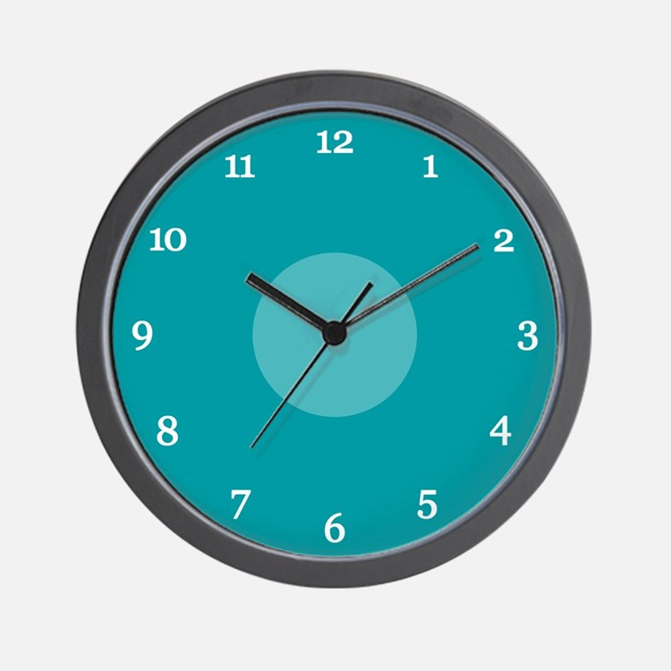 Teal Wall Clock (15W)