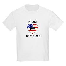 Proud of dad Kids T-Shirt