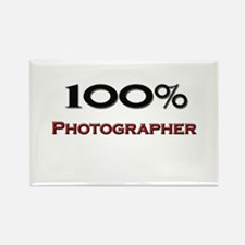 100 Percent Photographer Rectangle Magnet