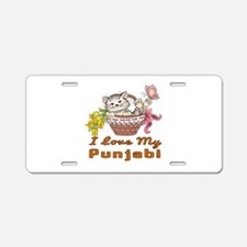 I Love My Punjabi Designs Aluminum License Plate