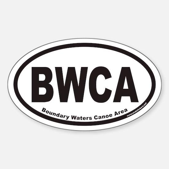 BWCA Boundary Waters Canoe Area Euro Oval Decal