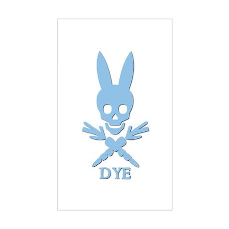 DYE (blue) Rectangle Sticker