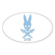 DYE (blue) Oval Decal