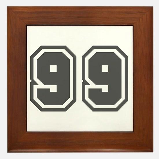 Number 99 Framed Tile